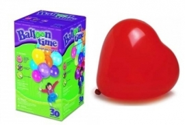 Helium klein 25 rode hartenballonnen
