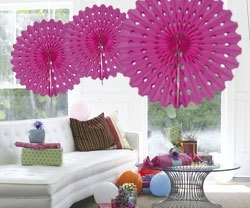 Honeycomb fan hotpink