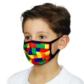 Kinder Mondkapjes met Lego | Bricks print