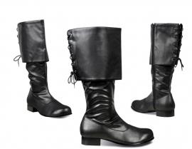 Laarzen zwart piraat