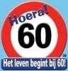 Huldebord / deurbord - 60 jaar