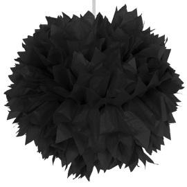 Zwarte pom pom 30 cm