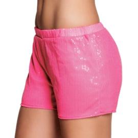 Hotpants sequins neon pink