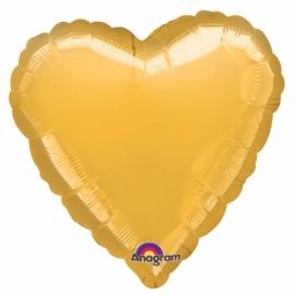folieballon hart goud incl. helium