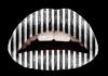 Lip tattoo black and white