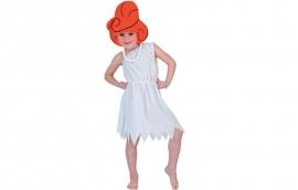 Wilma Flinstone met pruik(hoed)