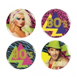 Buttons 80's party