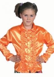Blouse roezel oranje