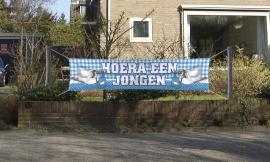 Banner Hoera een jongen