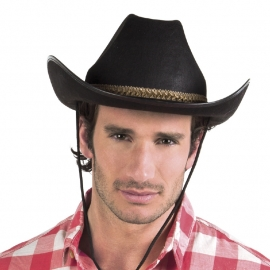 Hoed Cowboy zwart/goud