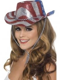 Cowboyhoed glitter Amerika