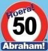Huldebord / deurbord - 50 jaar / Abraham