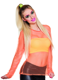 Netshirt Neon oranje 80's