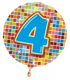 4 jaar folieballon blocks excl.