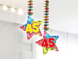 Hangdecoratie 45 jaar blocks