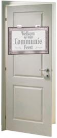 Deurbord wit communie