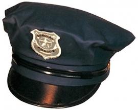 Politiepet blauw zwart