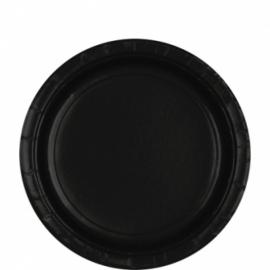 Zwarte bordjes 8 stuks