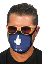 Mondkapjes met fuck virus print