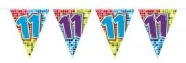 Vlaggenlijn 11 jaar medium