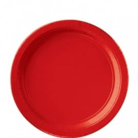 Rode bordjes 8 stuks
