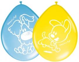 8 stuks ballonnen Woezel en Pip