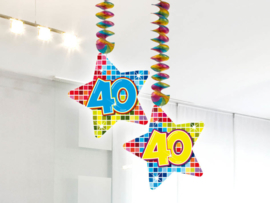 Hangdecoratie 40 jaar blocks
