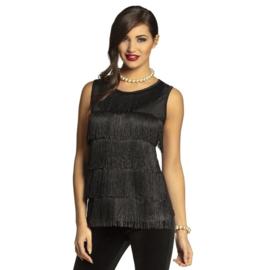 Flapper shirtje 20's zwart