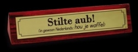 Desk Signs - stilte a.u.b.
