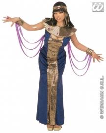 Cleopatra blauwe jurk