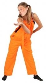 Kids tuinbroek fluor oranje