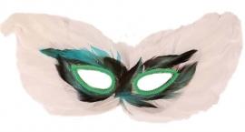 Veren oogmasker wit
