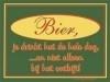 Metalen bord -- Bier drink je