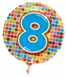 8 jaar folieballon blocks excl.