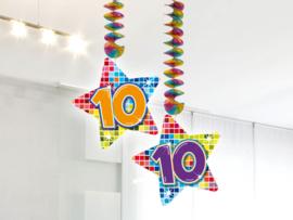 Hangdecoratie 10 jaar blocks