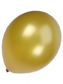 Kwaliteitsballon metallic goud  10 stuks