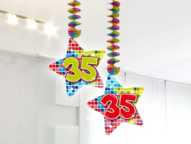 Hangdecoratie 35 jaar blocks