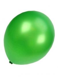 Kwaliteitsballon metallic groen 100 stuks