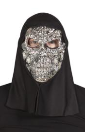 Zilveren doodshoofd masker