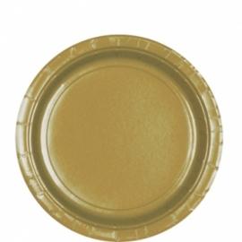 Gouden bordjes 8 stuks