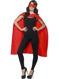 Rode helden cape en masker