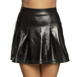 Mini kleedje shiny zwart