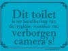 Metalen bord -- Toilet camera