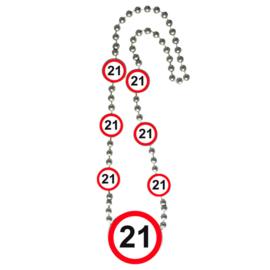 Ketting verkeersbord 21 jaar