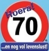Huldebord / deurbord - 70 jaar