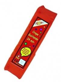 Crepe guirlande - slingers -- rood