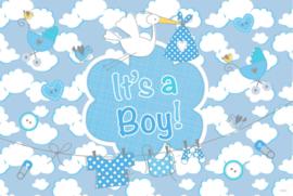 Gevelvlag geboorte jongen luxe