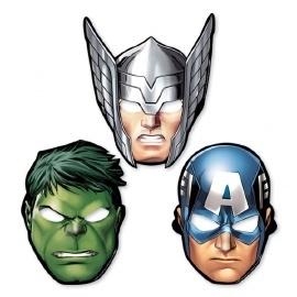 The Avengers maskers 8 stuks