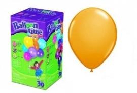 Helium klein 25 oranje ballonnen