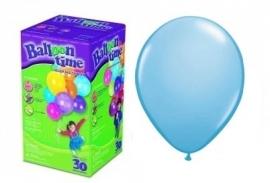 Helium groot 40 lichtblauwe ballonnen